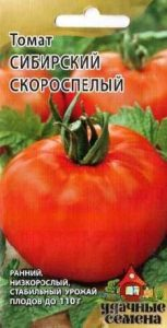 description of tomato variety Siberian early