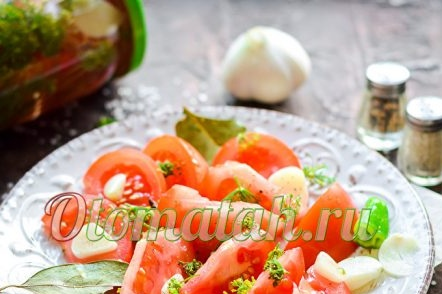 Recipe for salted tomatoes