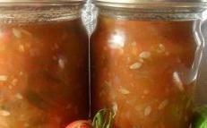 Concombres à la tomate