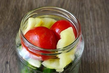 vegetables in a jar