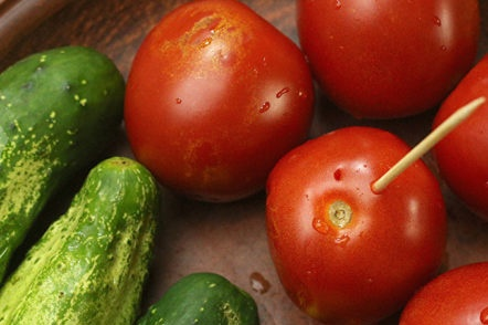 préparation de légumes