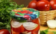 Tomatoes with vinegar slices