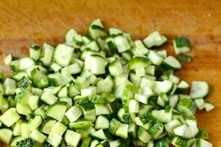 shredded cucumbers