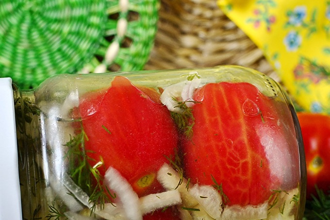 Marinated Tomatoes Without Peel
