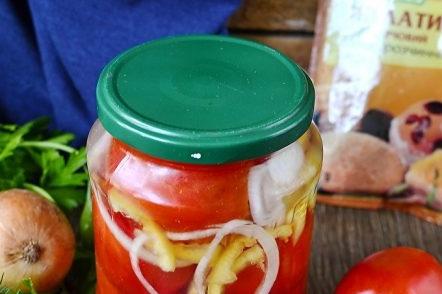 кисели домати в желатин