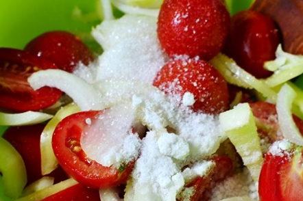Смесете зеленчуците