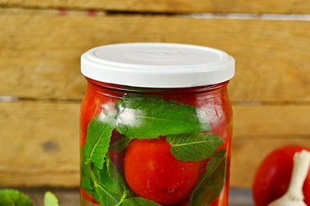 Ready Tomatoes in a jar