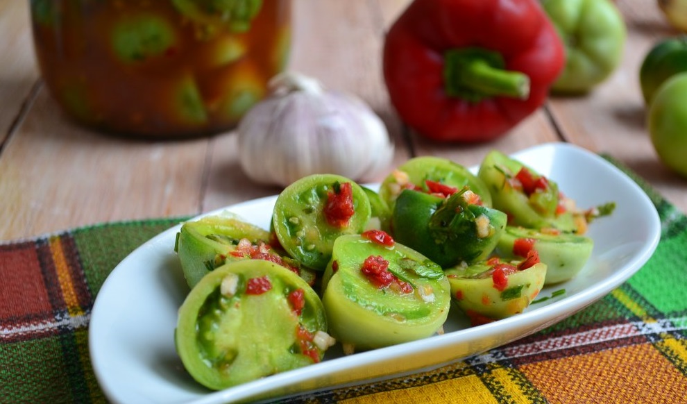 green tomatoes for the winter