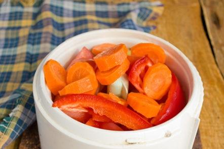 нарязани моркови