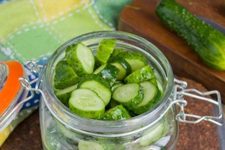 Cucumbers in a can