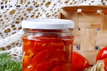 pickled tomatoes for the winter