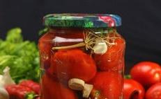 Tomatoes with horseradish
