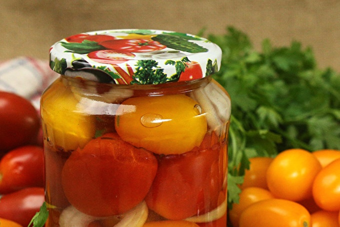pickled sweet tomatoes