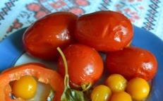 Tomatoes with cherry plum