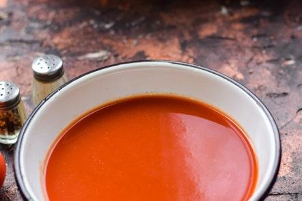 jus de tomates fraîches