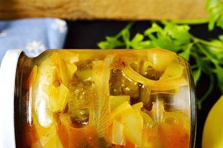 salade de légumes pour l'hiver