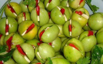 пълнени зелени домати