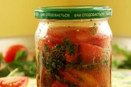 De délicieuses tomates pour l'hiver en coréen