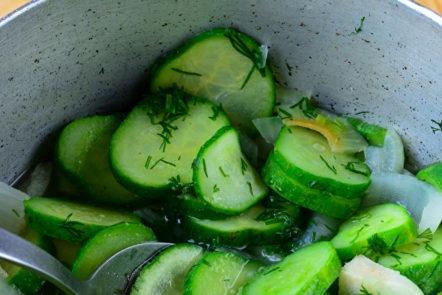 faire bouillir la salade