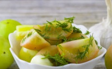 Salted green tomatoes