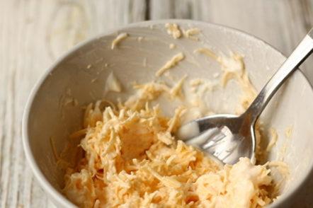mix with garlic