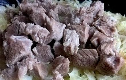 сложи месото