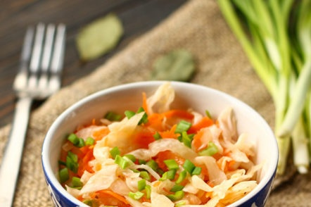 crispy cabbage with carrots