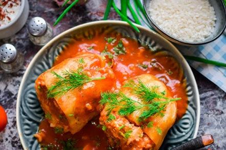 пипер с ориз и месо