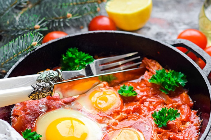 Shakshuka with tomatoes