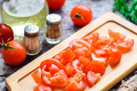 tomates en tranches