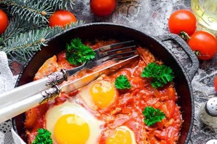 scrambled eggs shakshuka