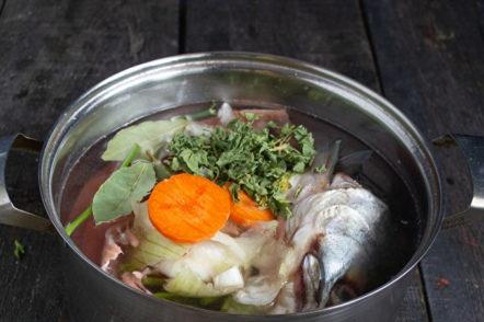готвене на рибен бульон
