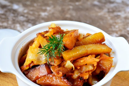 ragoût de chou aux pommes de terre