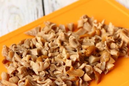 champignons coupés