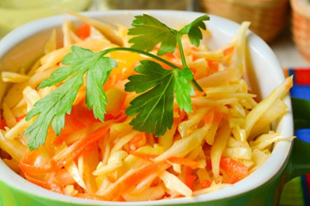 salade de chou et poivron