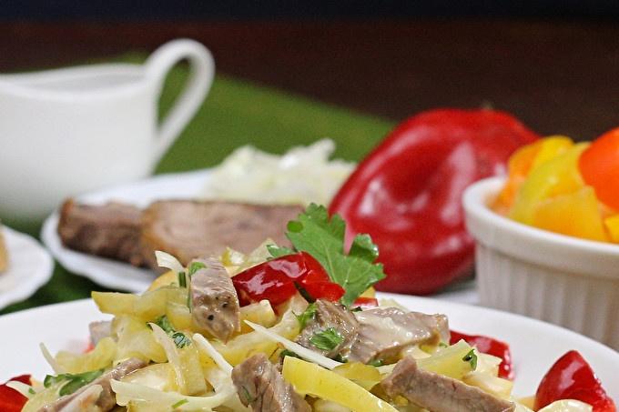 Пражка салата с телешко месо