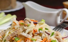 cabbage and meat salad