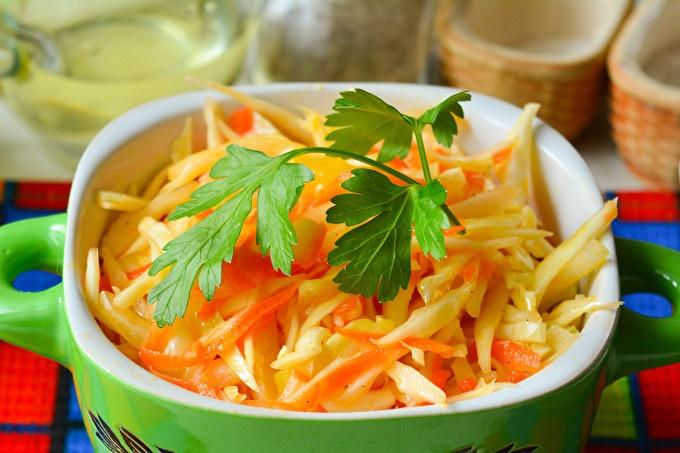 salade de chou aux poivrons