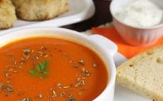 purée de soupe aux tomates