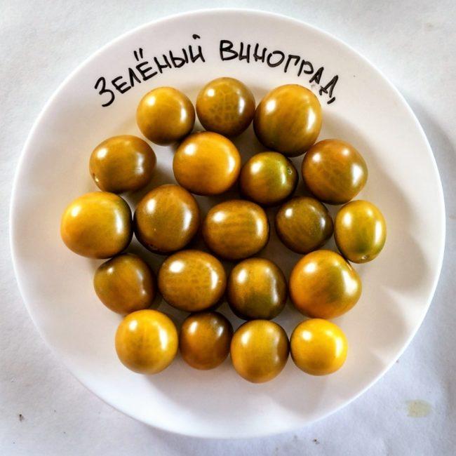 tomato green grapes