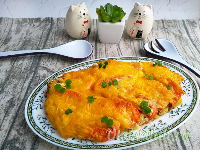 casserole de pommes de terre aux champignons et tomates