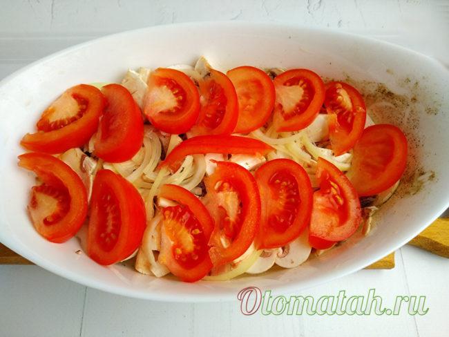 étendre les tomates