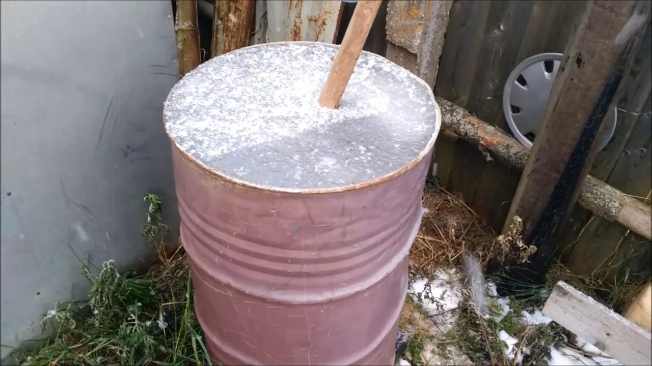 air dalam laras di musim sejuk