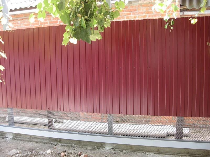 clôture ondulée